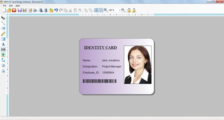 ID software employee identification card generator student