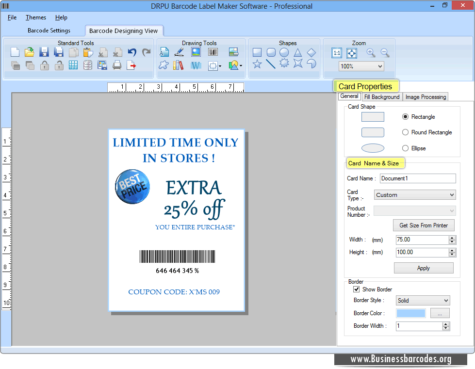 Professional Barcode Generator software makes linear and 2D barcode ...