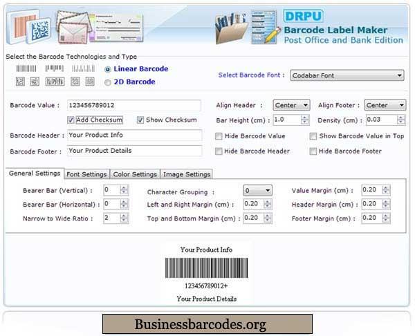 USPS Postal Barcode Software